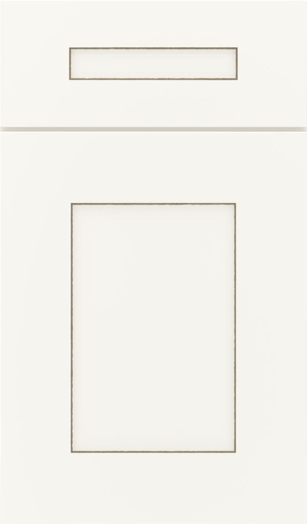 Artisan 5-piece Maple shaker cabinet door in White with Twilight glaze