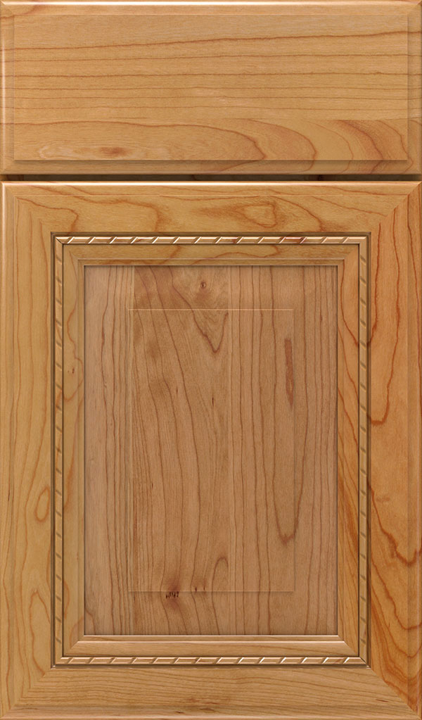 Avignon Cherry Raised Panel Cabinet Door in Natural