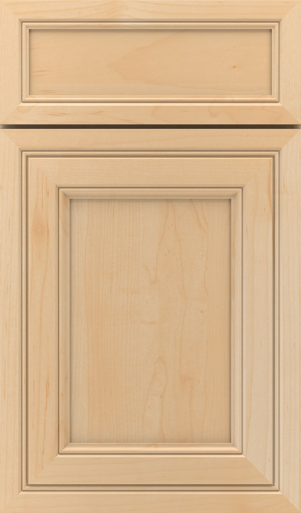 Braydon Manor 5-piece Maple flat panel cabinet door in Natural