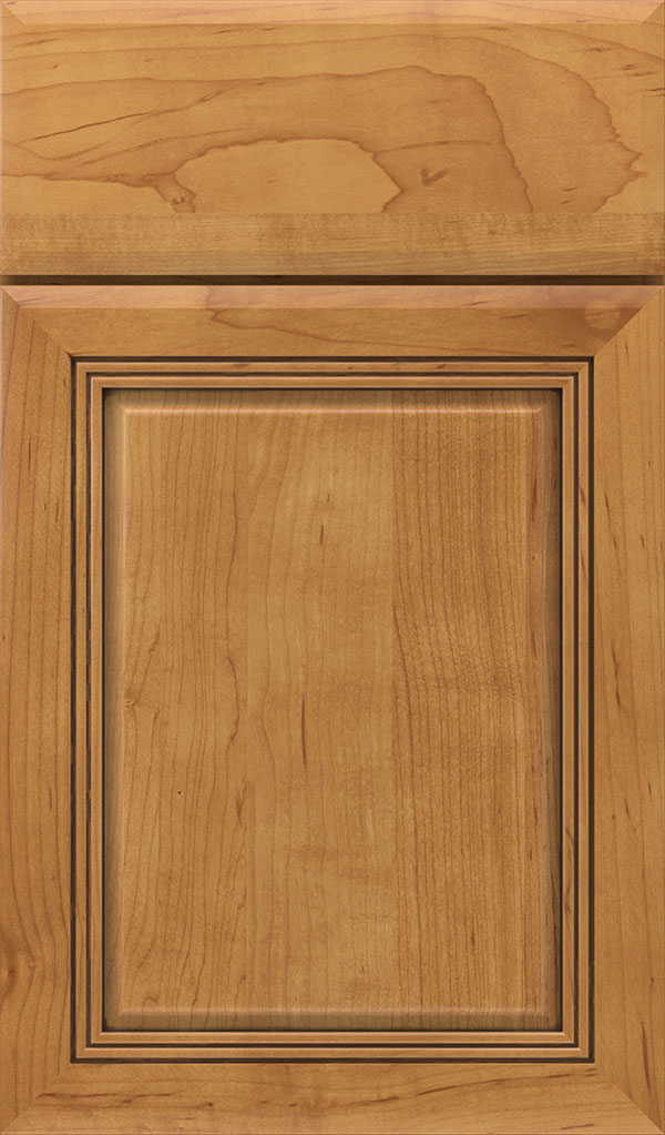 Cambridge Maple Raised Panel Cabinet Door in Coriander Coffee