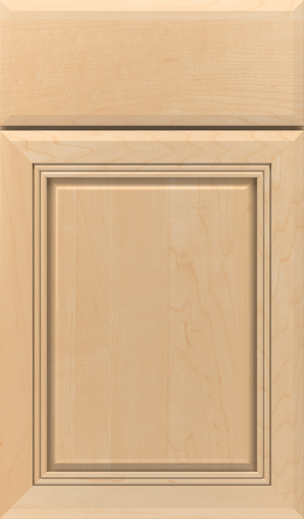 Cambridge Maple Raised Panel Cabinet Door in Natural