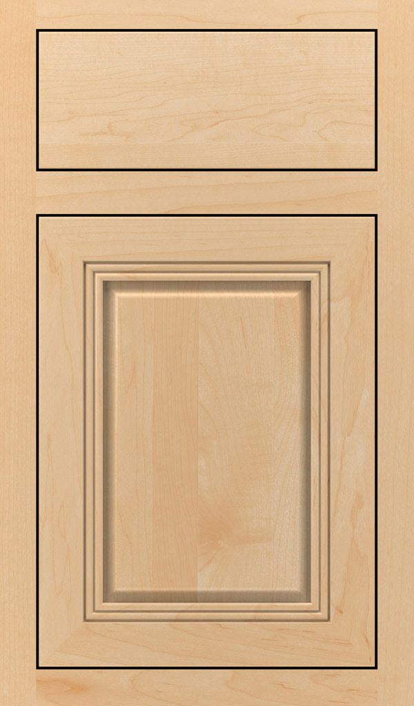Cambridge Maple Inset Cabinet Door in Natural