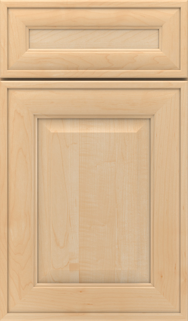 Davenport 5-Piece Maple Raised Panel Cabinet Door in Natural