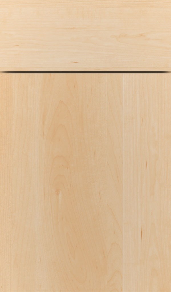 Della Maple slab cabinet door in Natural