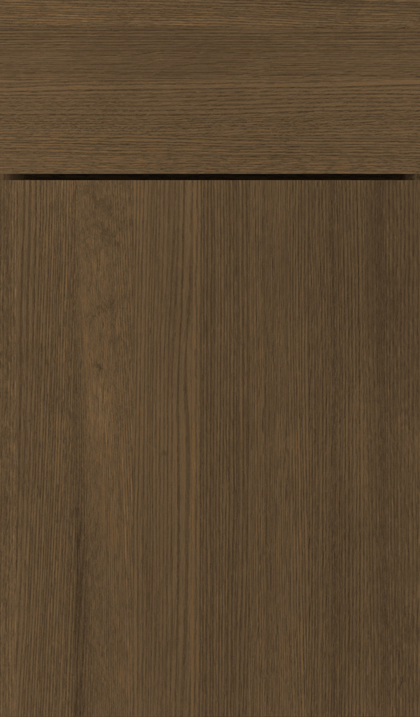 Della Quartersawn Oak Slab Cabinet Door in Kindling