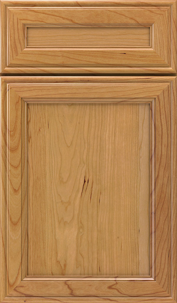 Girard 5-Piece Cherry Raised Panel Cabinet Door in Natural