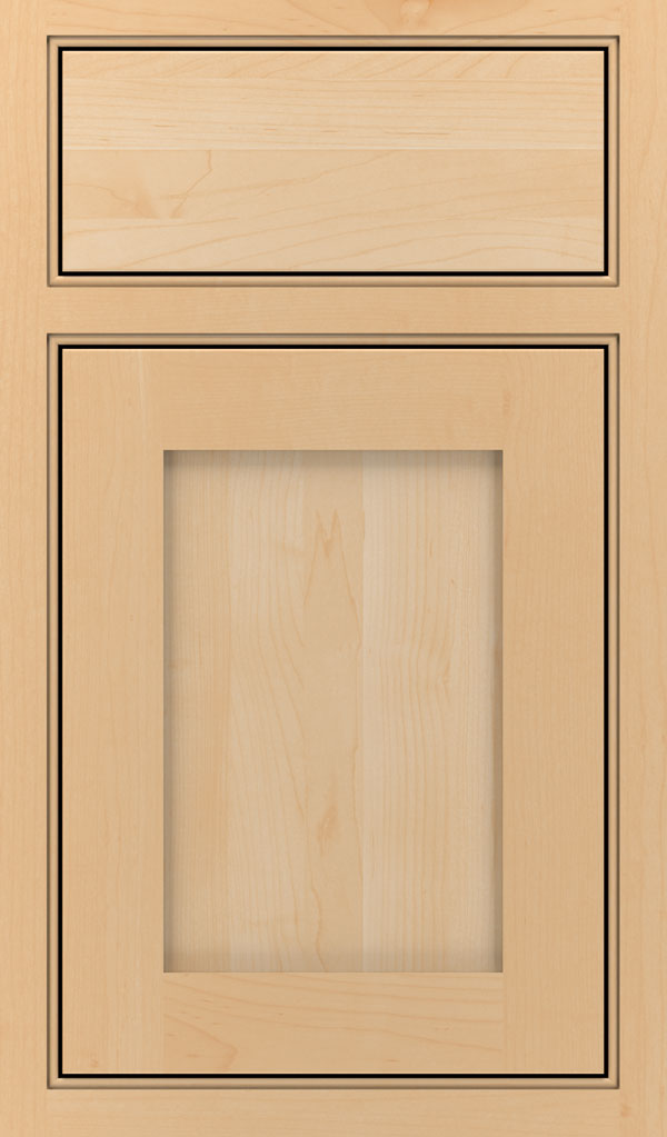 Harmony Maple Beaded Inset Cabinet Door in Natural