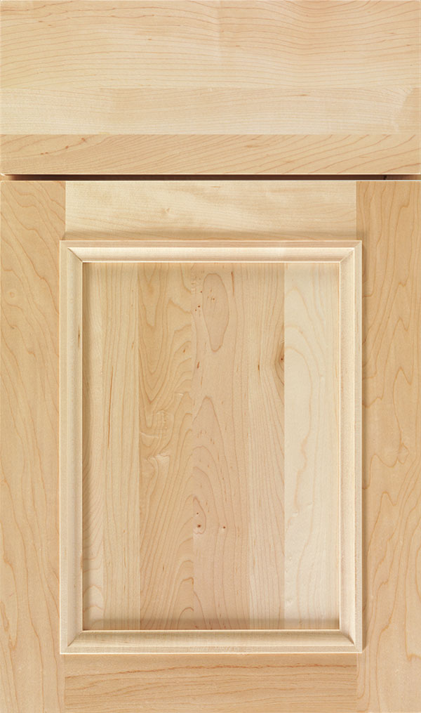 Haskins Maple recessed panel cabinet door in Natural