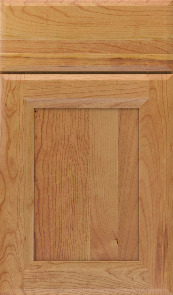 Huchenson Cherry Recessed Panel Cabinet Door in Natural
