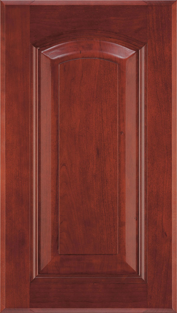 Kingston Cherry arched Raised Panel Cabinet Door in Arlington