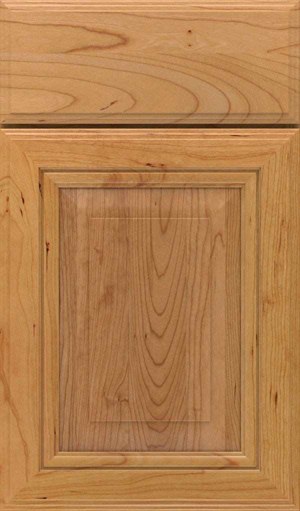 Lexington Cherry Raised Panel Cabinet Door in Natural