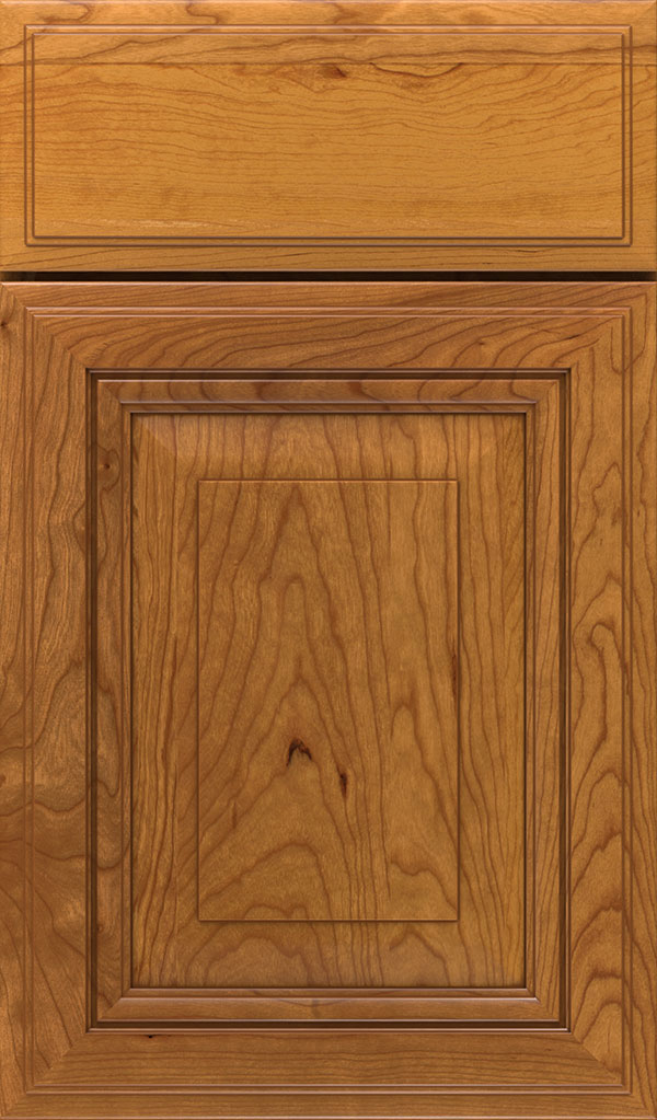 Lexington Cherry Raised Panel Cabinet Door in Wheatfield Bronze