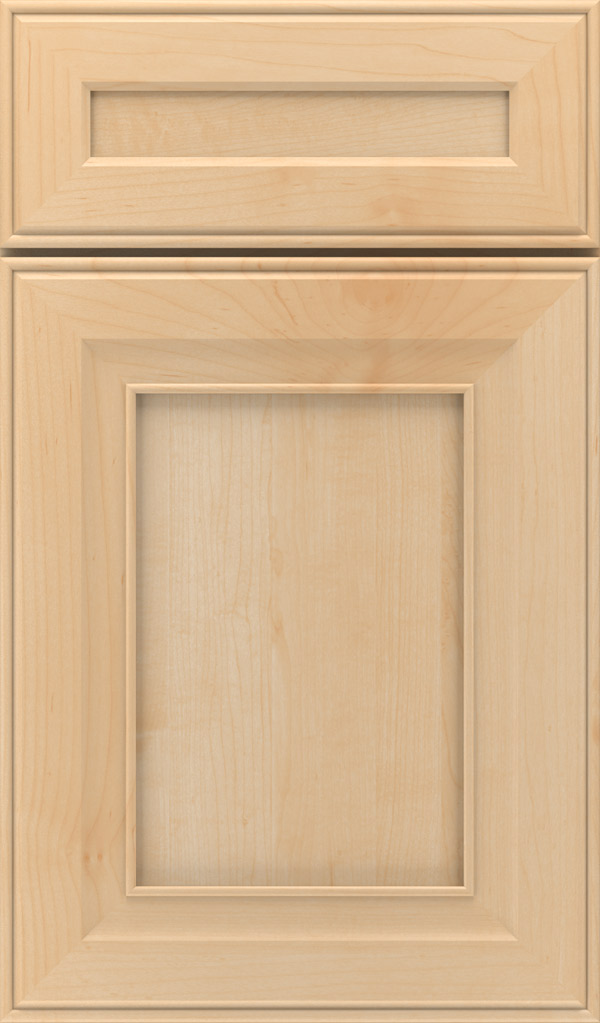 Leyden 5-Piece Maple Flat Panel Cabinet Door in Natural