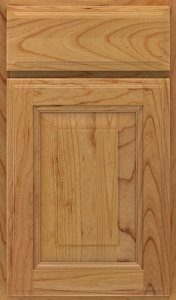 Madison Cherry Rasied Panel Cabinet Door in Natural