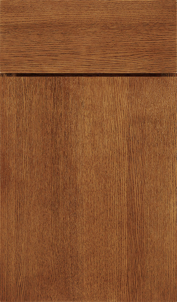 Marquis Quartersawn Oak Slab Cabinet Door in Suede