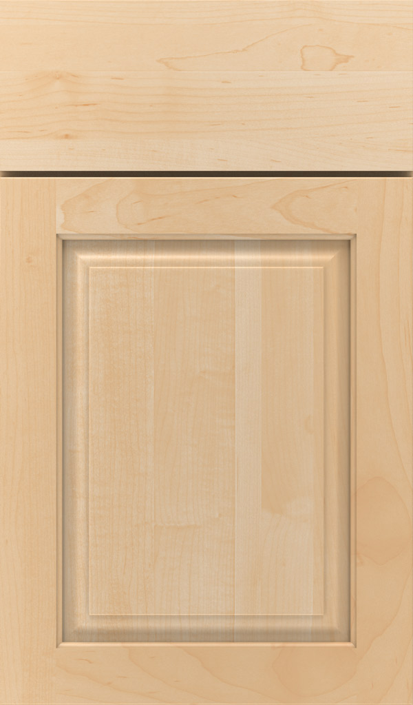 Plaza Maple raised panel cabinet door in Natural