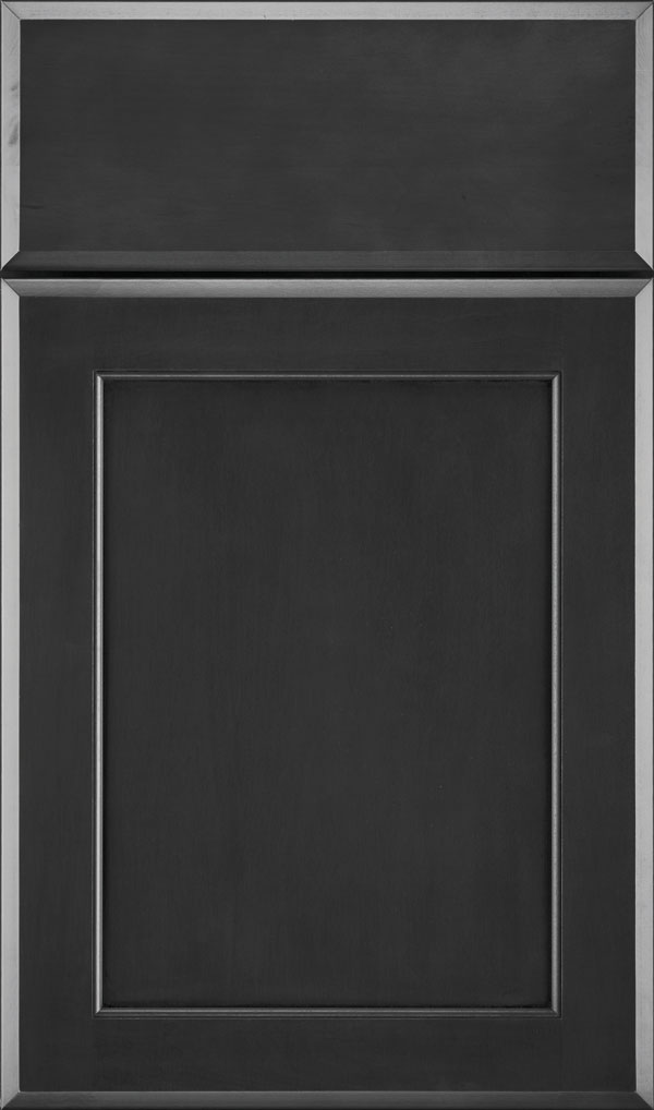 Prescott Maple Flat Panel Cabinet Door in Cobblestone