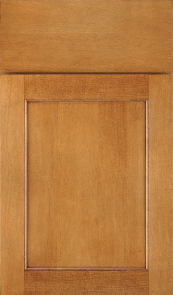 Prescott Maple Flat Panel Cabinet Door in Coriander Coffee