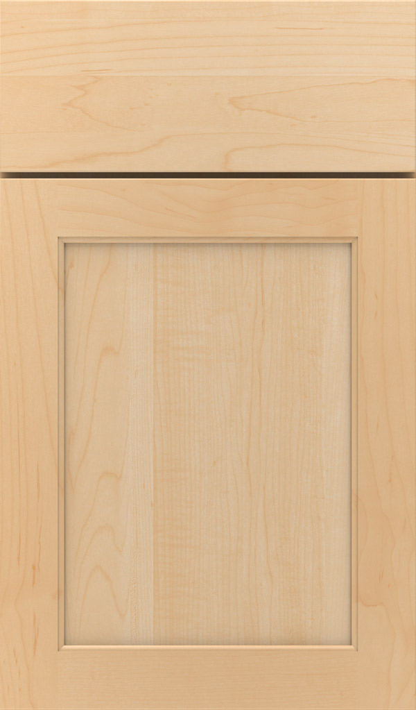 Prescott Maple Flat Panel Cabinet Door in Natural