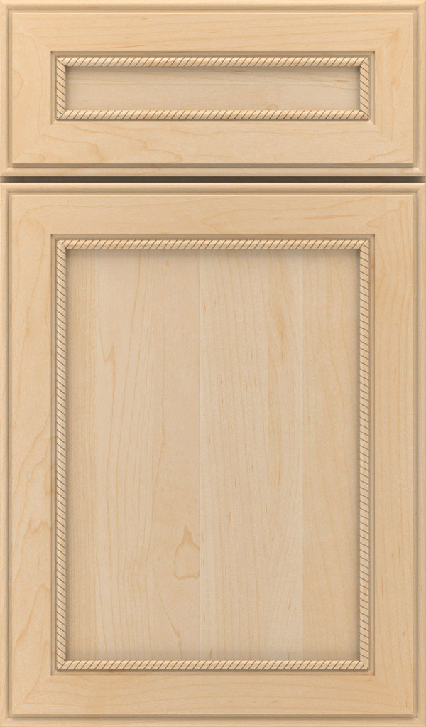 Savannah 5 Piece Maple Flat Panel Cabinet Door in Natural