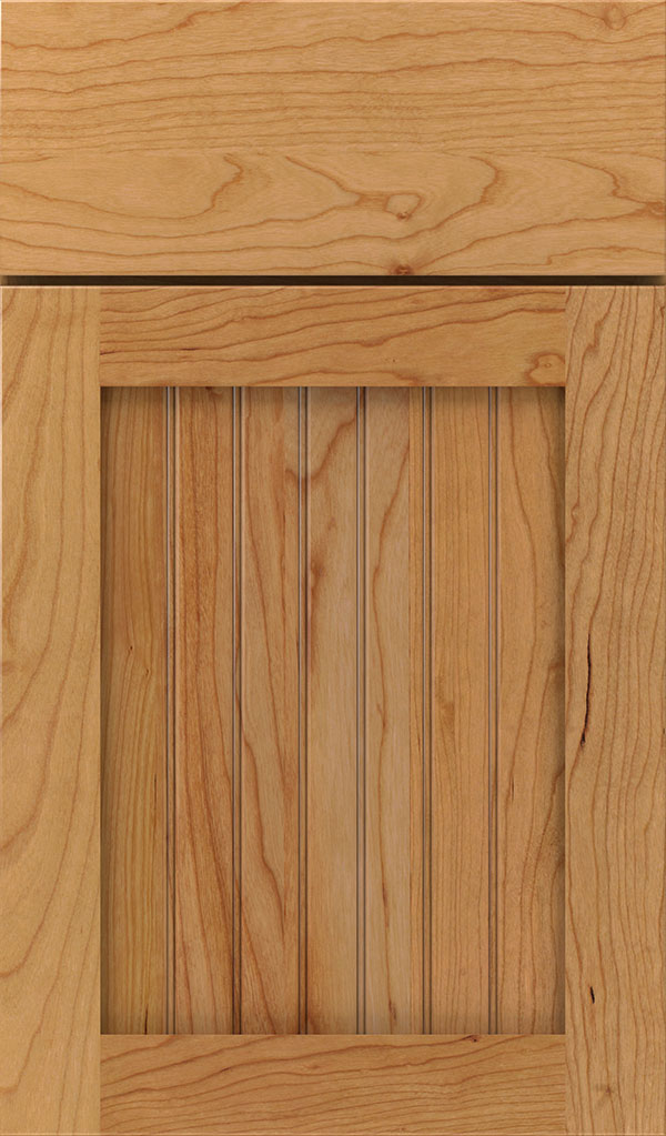 Simsbury Cherry Beadboard Cabinet Door in Natural