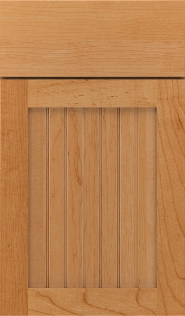 Simsbury Maple Beadboard Cabinet Door in Wheatfiled