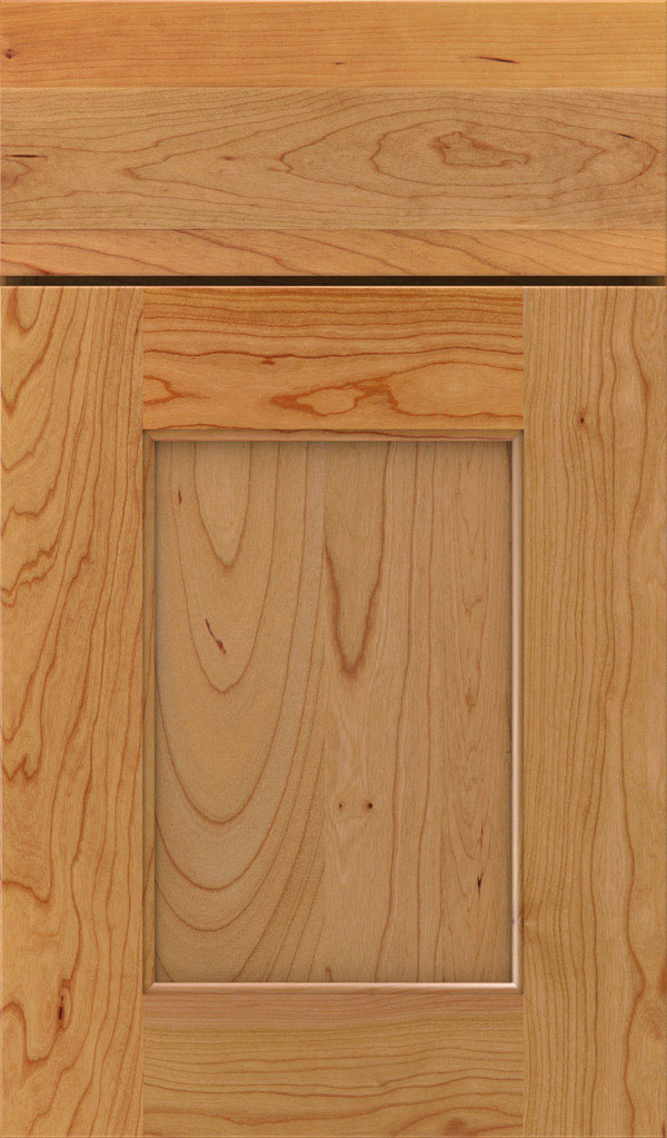 Sloan Cherry Recessed Panel Cabinet Door in Natural