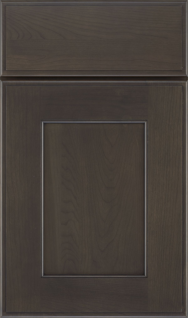 Sloan Cherry Recessed Panel Cabinet Door in Shadow