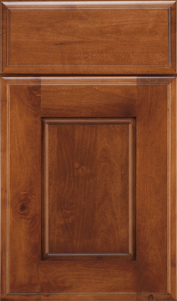 Toulan Maple Raised Panel Cabinet Door in Suede
