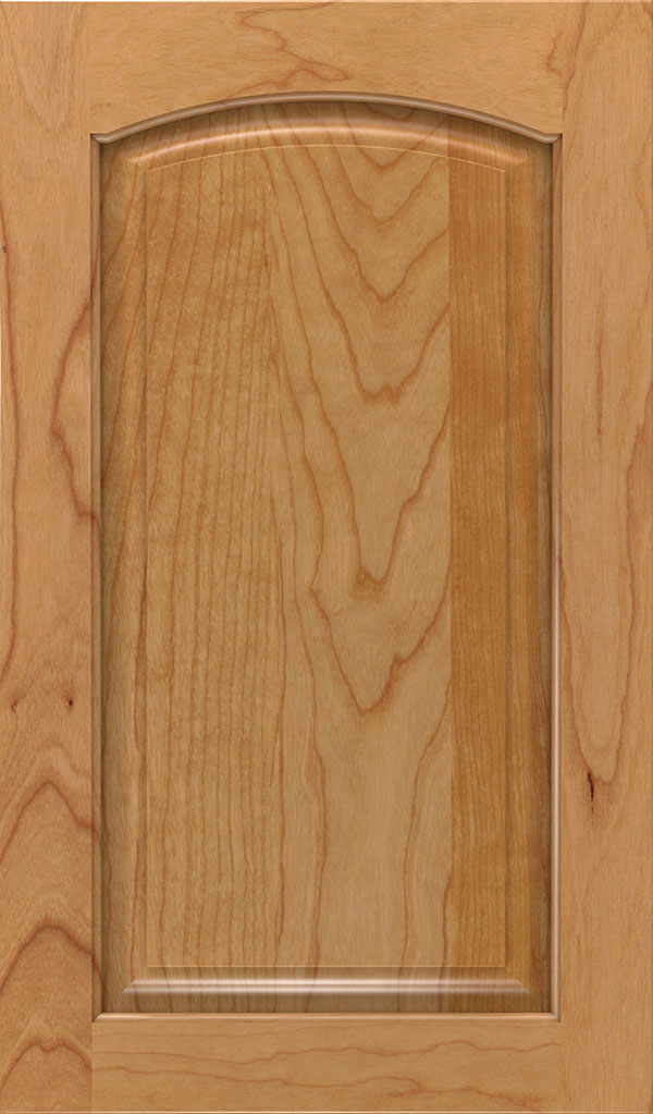 Verona Cherry Arched Raised Panel Cabinet Door in Natural