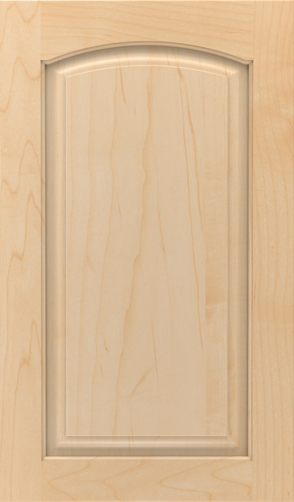 Verona Maple Arched Raised Panel Cabinet Door in Natural