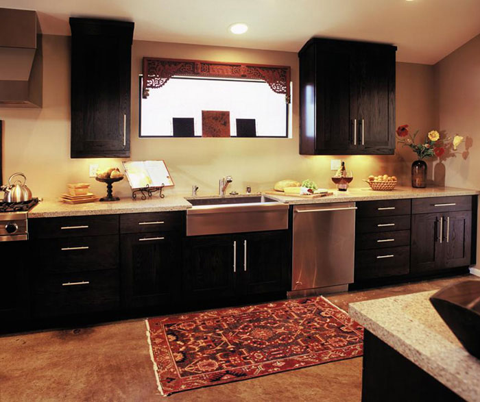 Contemporary galley kitchen design by Decora Cabinetry