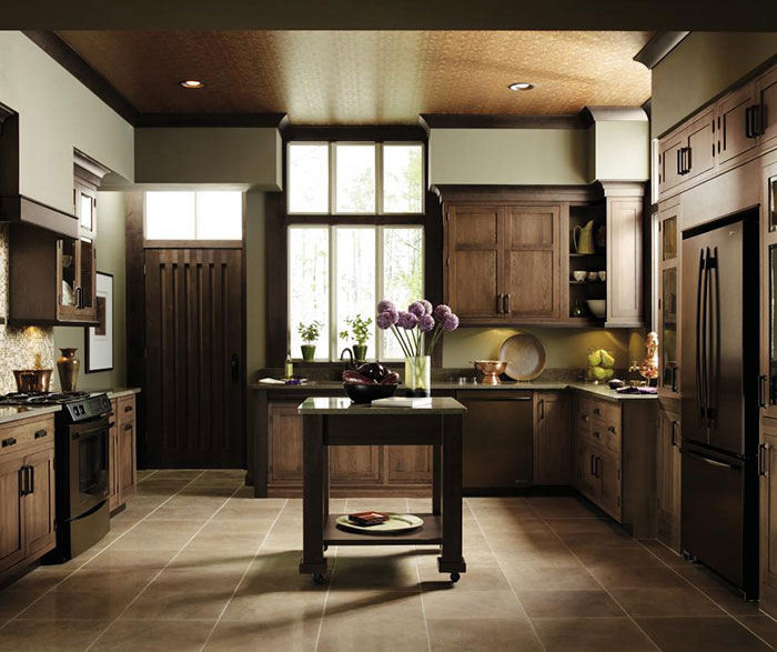 Cherry inset kitchen cabinets by Decora Cabinetry
