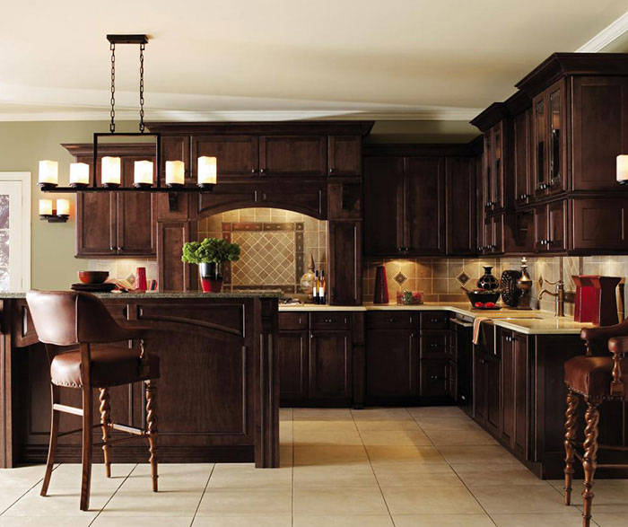 Dark Maple Kitchen Cabinets
