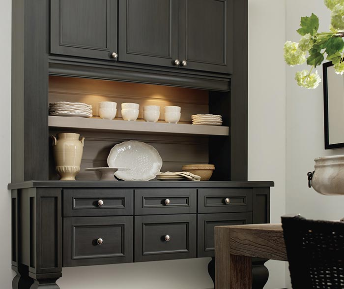 Haskins dining room storage cabinet in Maple Urbane paint